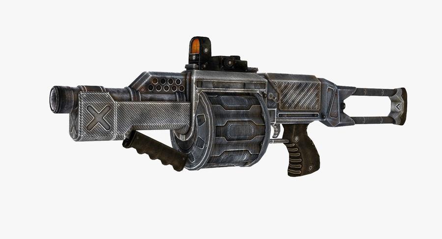 1型科幻武器 royalty-free 3d model - Preview no. 2