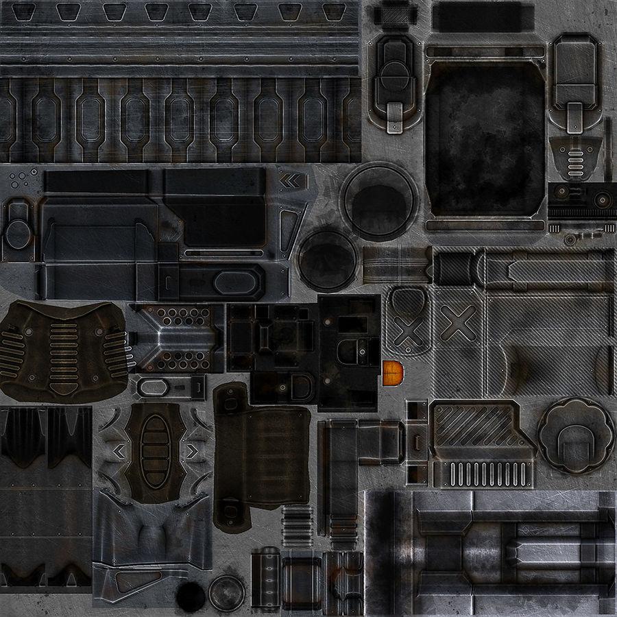 1型科幻武器 royalty-free 3d model - Preview no. 12
