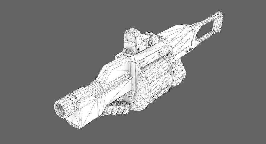 1型科幻武器 royalty-free 3d model - Preview no. 9