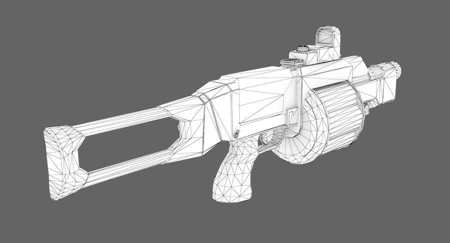 1型科幻武器 royalty-free 3d model - Preview no. 10