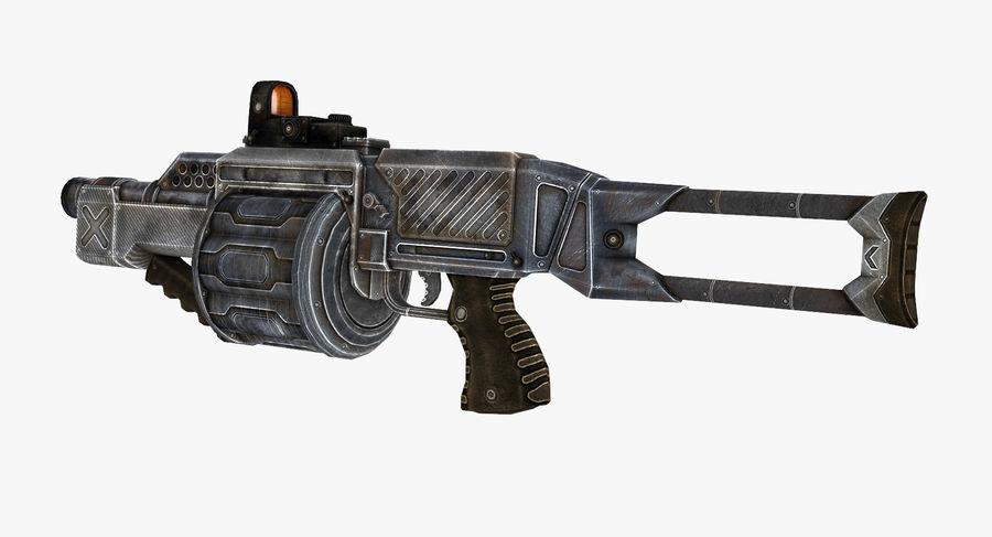 1型科幻武器 royalty-free 3d model - Preview no. 3