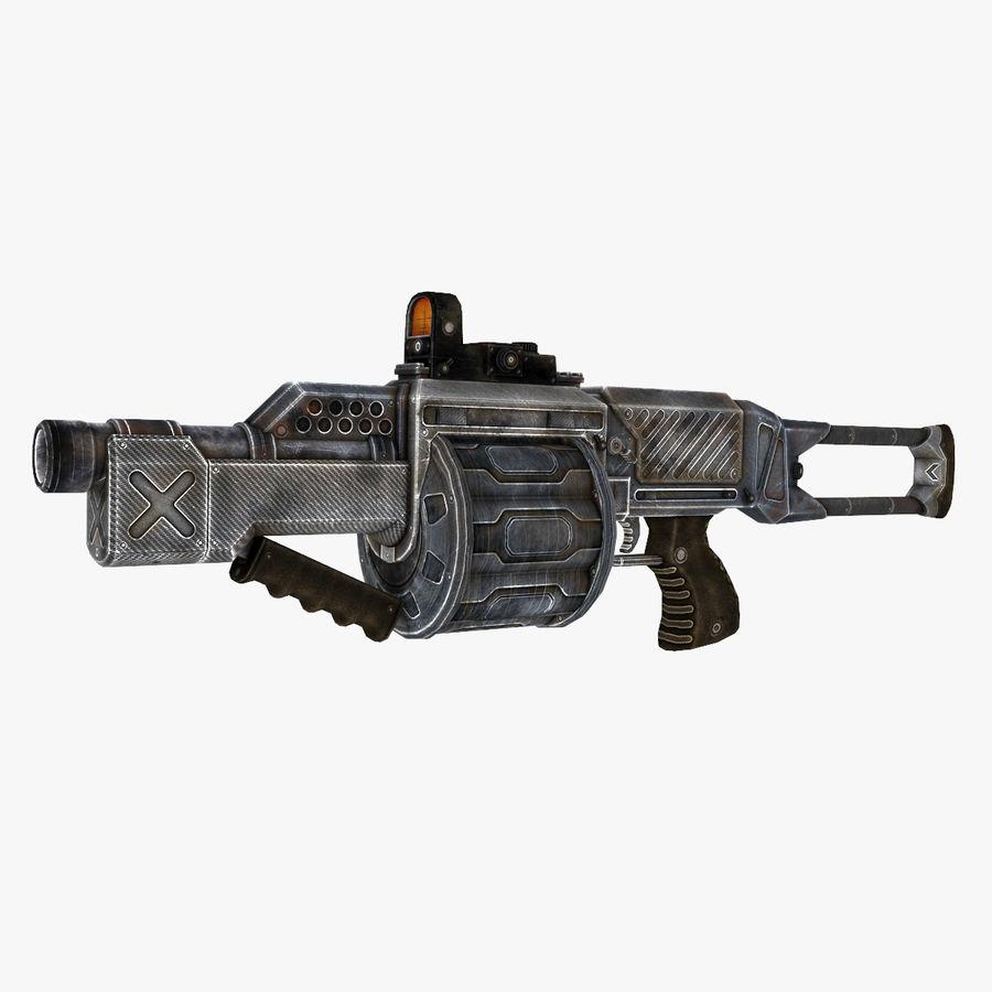 1型科幻武器 royalty-free 3d model - Preview no. 1