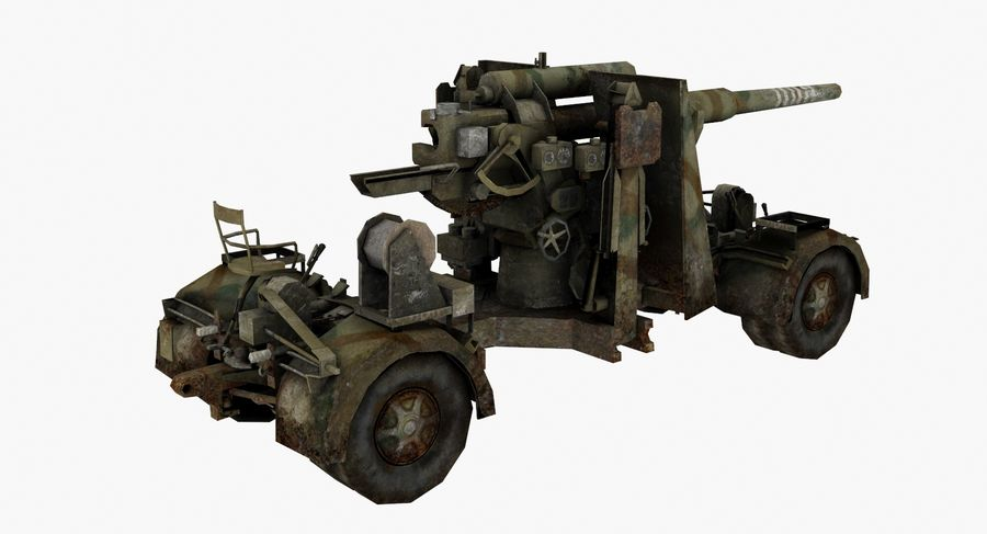 Flak 88 Artillery royalty-free 3d model - Preview no. 3