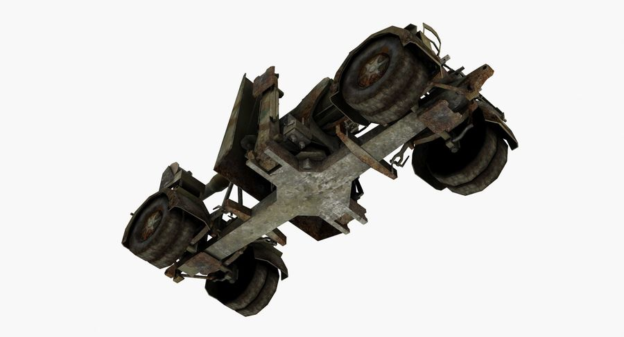Artyleria Flak 88 royalty-free 3d model - Preview no. 6