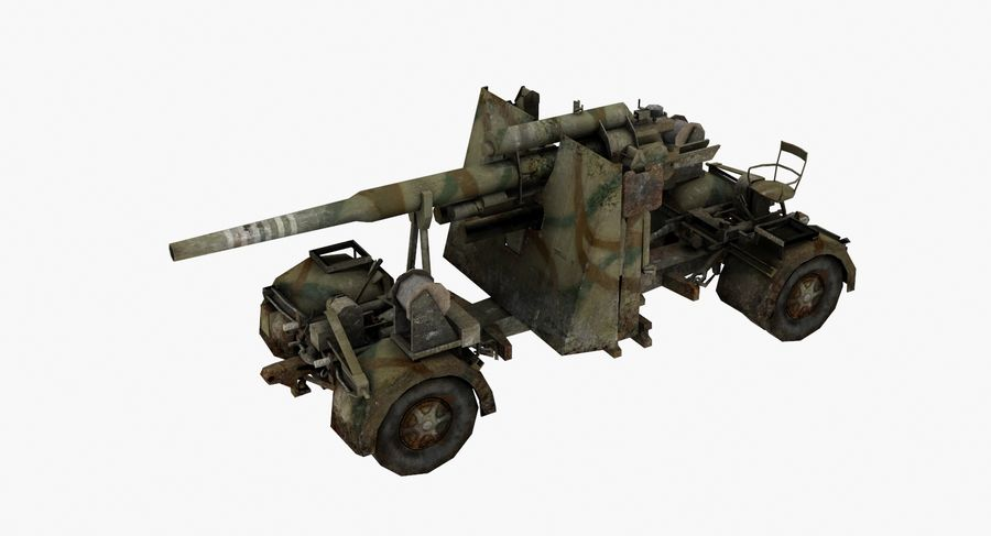 Flak 88 Artillery royalty-free 3d model - Preview no. 2