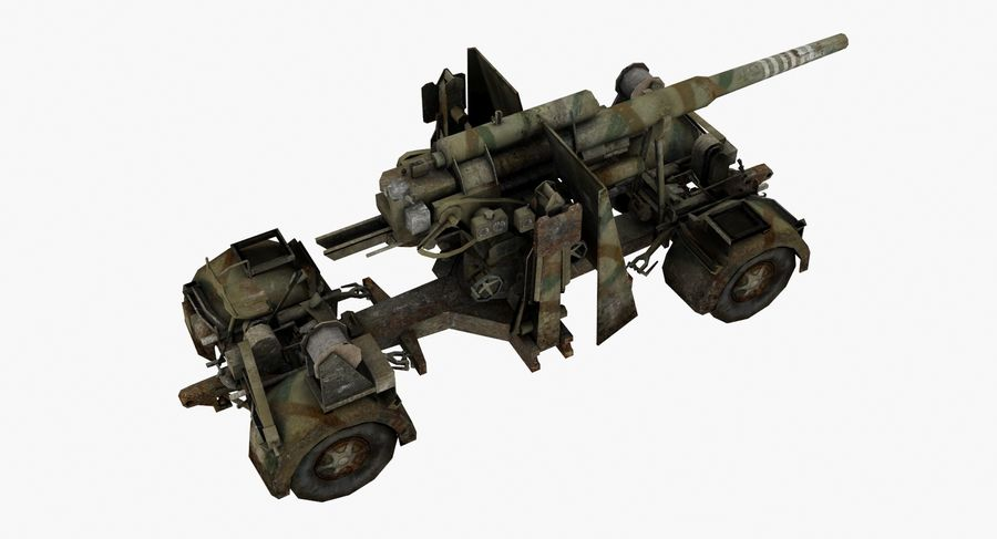 Flak 88 Artillery royalty-free 3d model - Preview no. 4