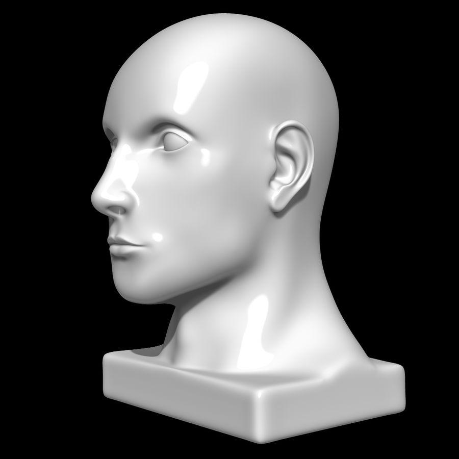 Głowa manekina royalty-free 3d model - Preview no. 8