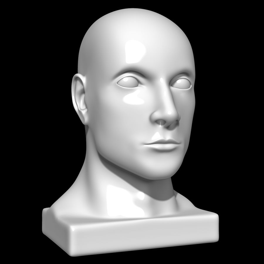 Głowa manekina royalty-free 3d model - Preview no. 1