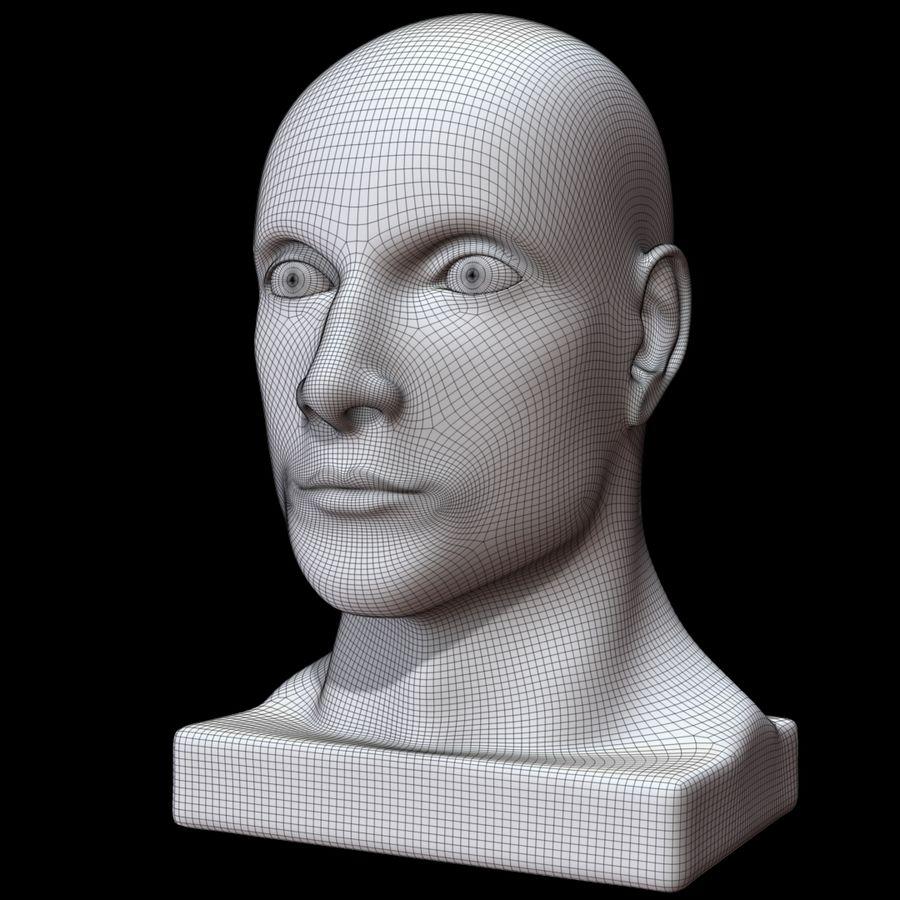 Głowa manekina royalty-free 3d model - Preview no. 18