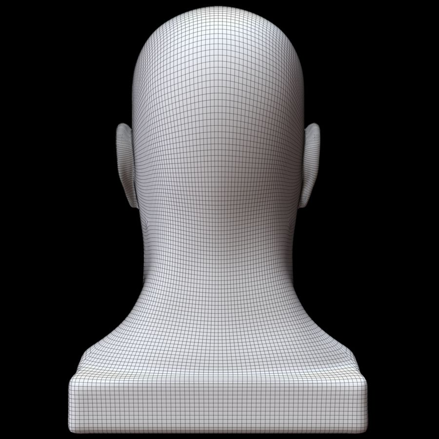 Głowa manekina royalty-free 3d model - Preview no. 15