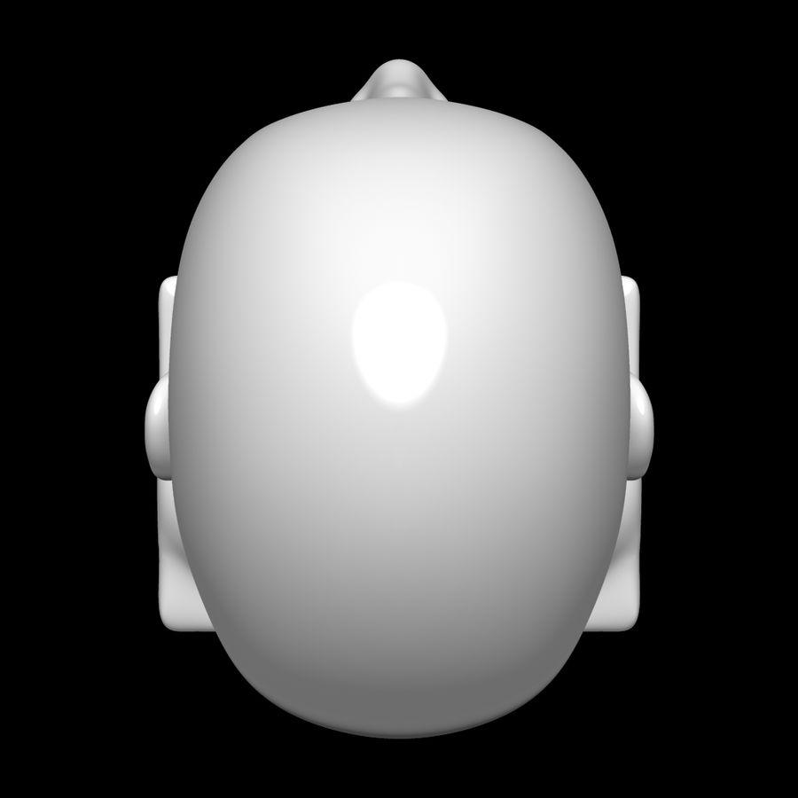 Głowa manekina royalty-free 3d model - Preview no. 10