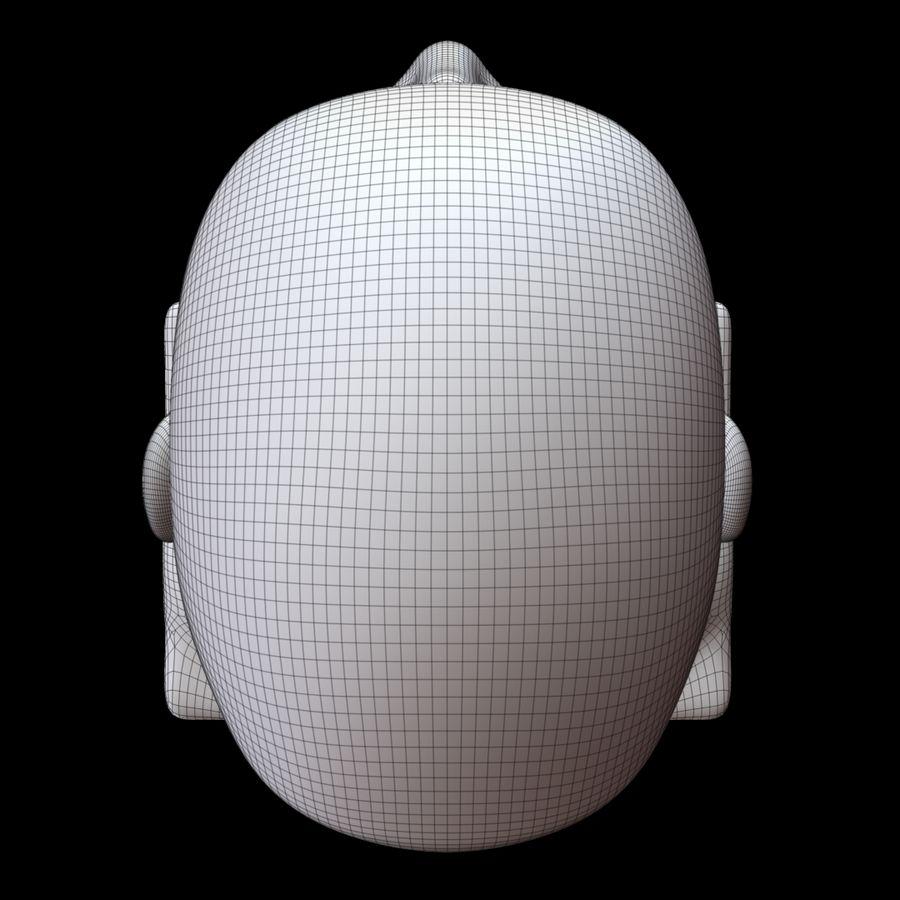 Głowa manekina royalty-free 3d model - Preview no. 20