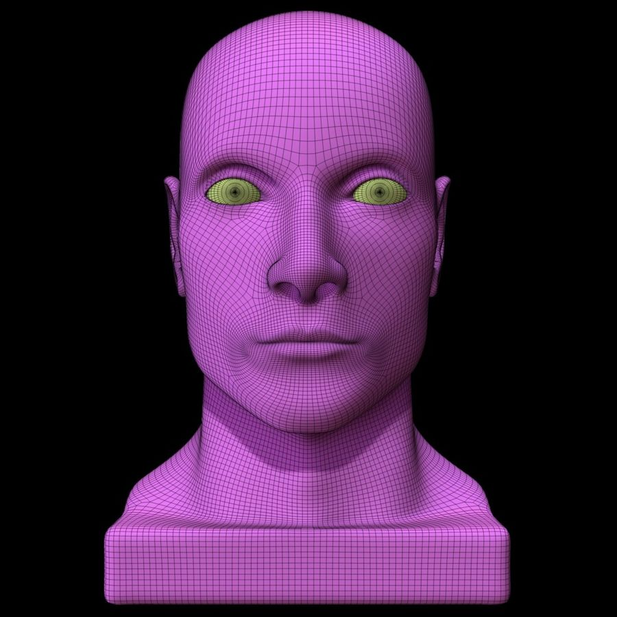 Mannequin Head royalty-free 3d model - Preview no. 21