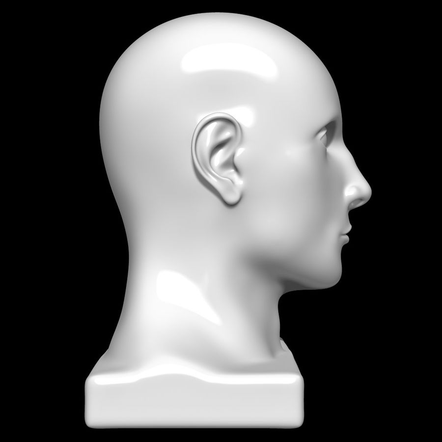 Mannequin Head royalty-free 3d model - Preview no. 3