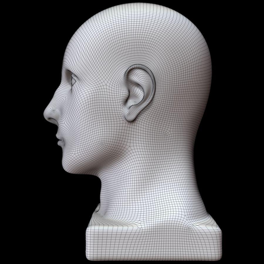 Głowa manekina royalty-free 3d model - Preview no. 17