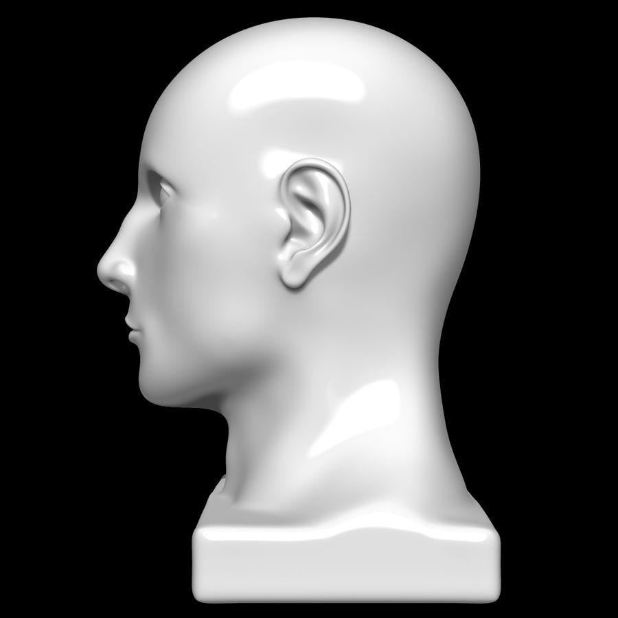 Głowa manekina royalty-free 3d model - Preview no. 7