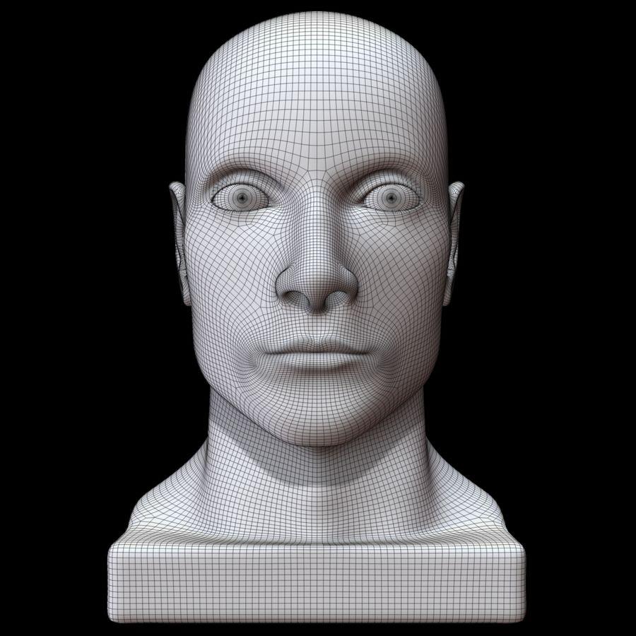 Głowa manekina royalty-free 3d model - Preview no. 11