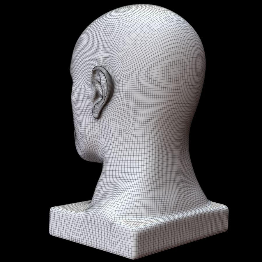 Głowa manekina royalty-free 3d model - Preview no. 16