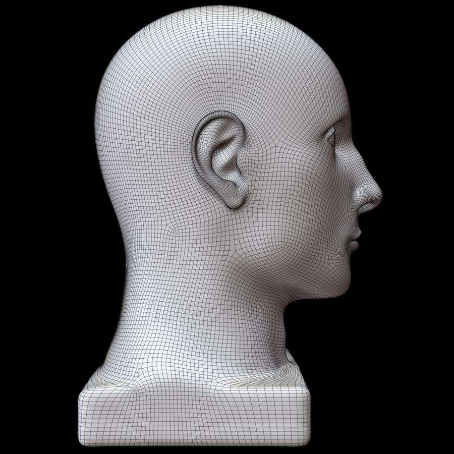 Głowa manekina royalty-free 3d model - Preview no. 13