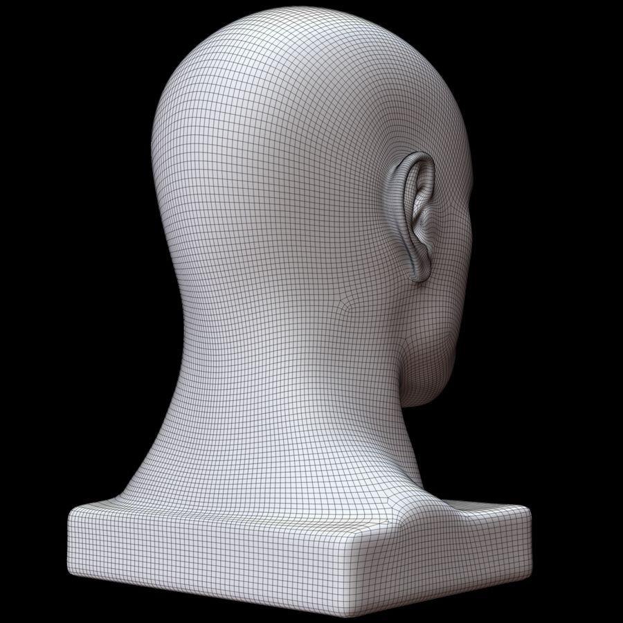 Głowa manekina royalty-free 3d model - Preview no. 14
