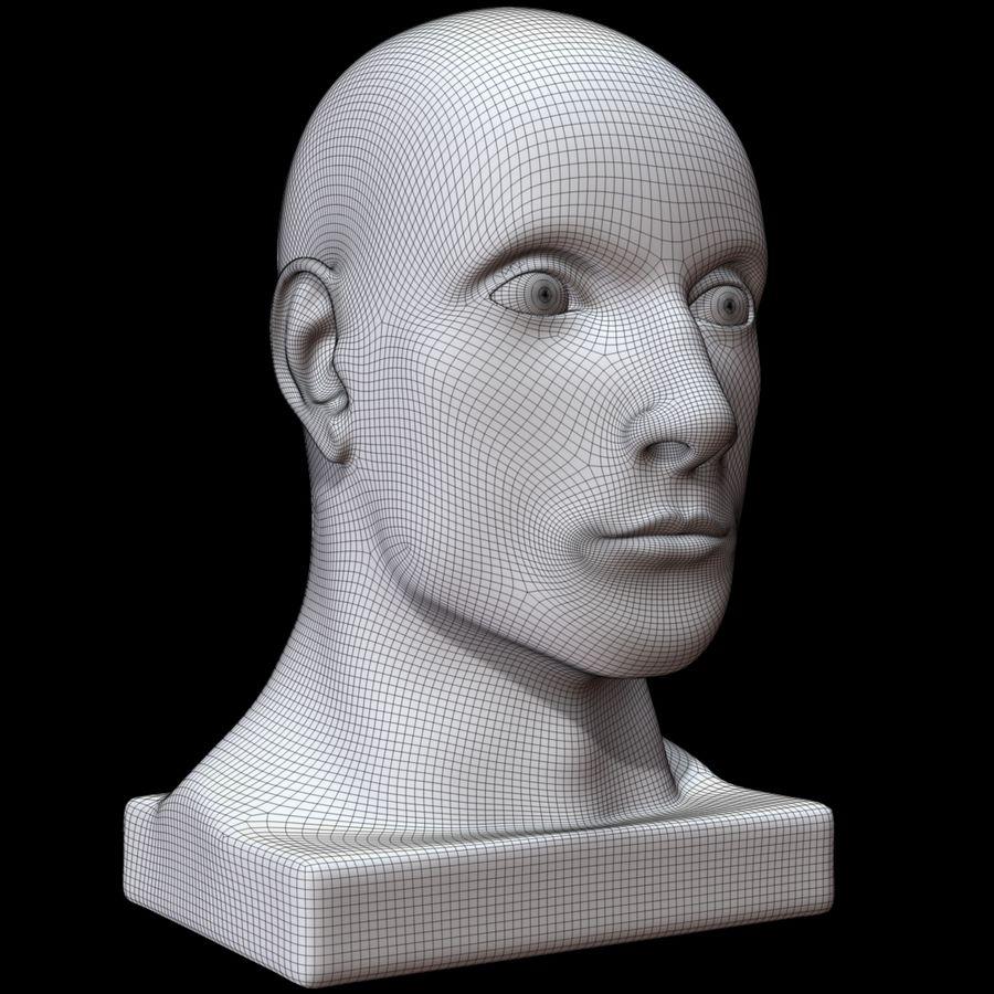 Głowa manekina royalty-free 3d model - Preview no. 12
