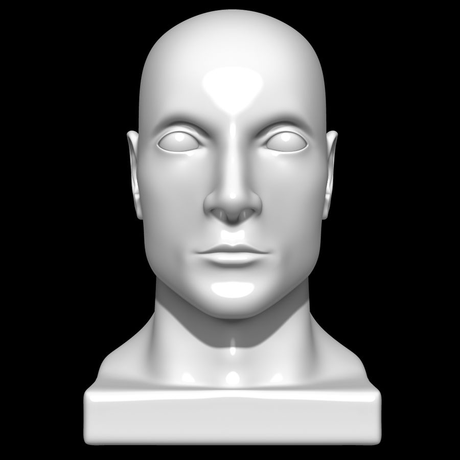 Głowa manekina royalty-free 3d model - Preview no. 2