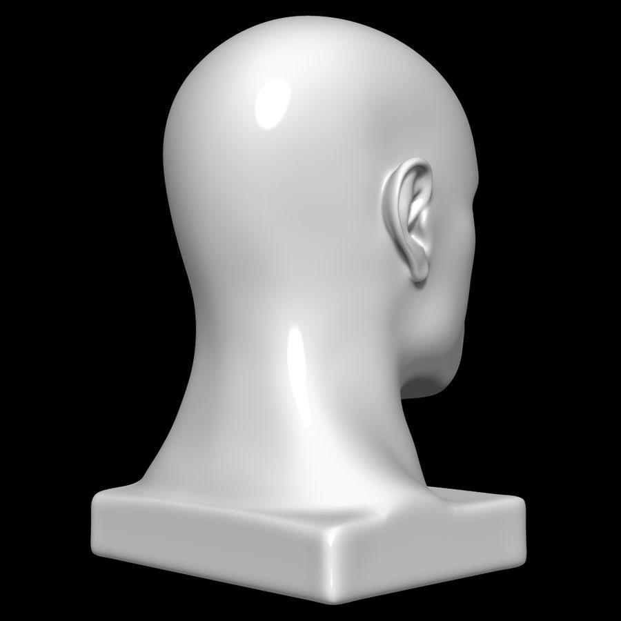 Głowa manekina royalty-free 3d model - Preview no. 4
