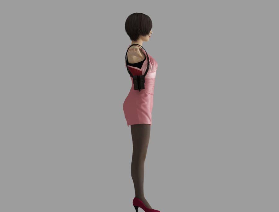 Ada Wong jurk royalty-free 3d model - Preview no. 4
