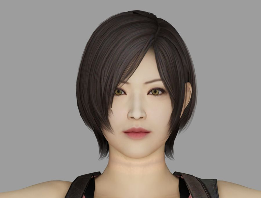 Ada Wong jurk royalty-free 3d model - Preview no. 6