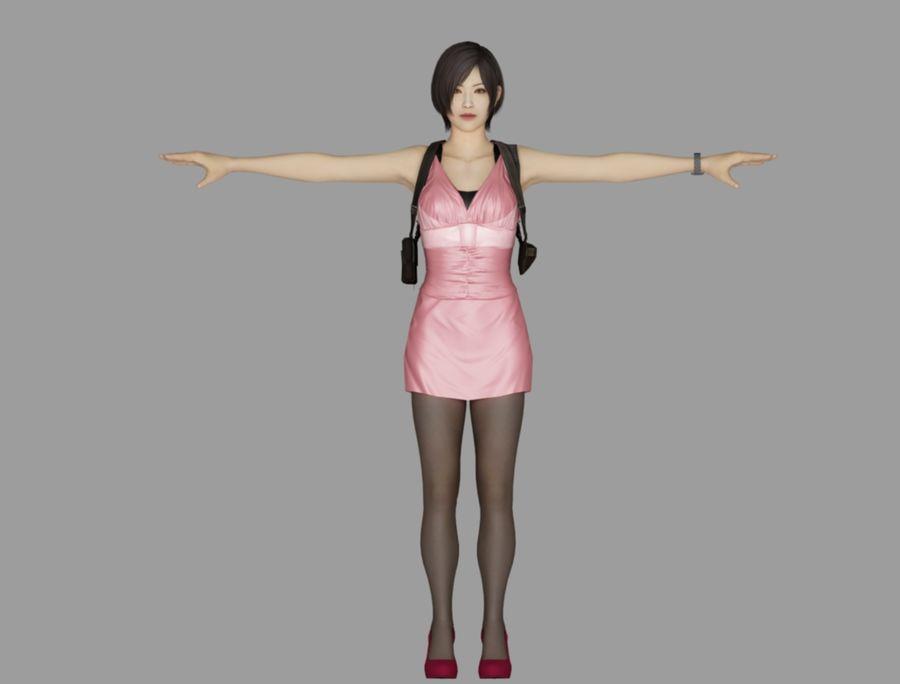 Ada Wong jurk royalty-free 3d model - Preview no. 2