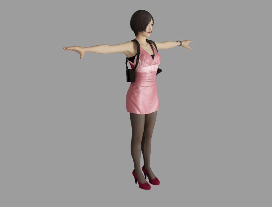 Ada Wong jurk royalty-free 3d model - Preview no. 3
