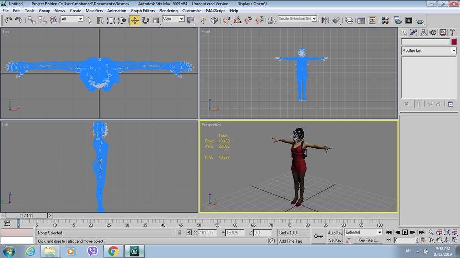 Ada Wong jurk royalty-free 3d model - Preview no. 9