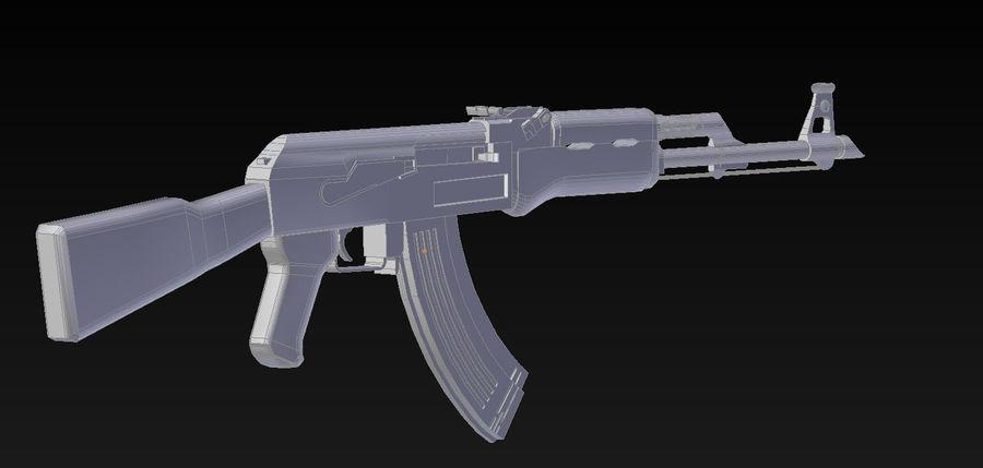 AK47 royalty-free 3d model - Preview no. 5