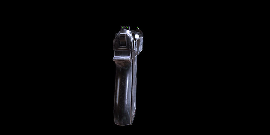 Beretta M9 royalty-free 3d model - Preview no. 3