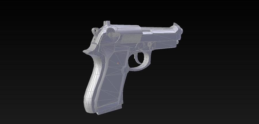 Beretta M9 royalty-free 3d model - Preview no. 6