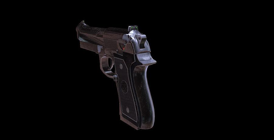Beretta M9 royalty-free 3d model - Preview no. 7