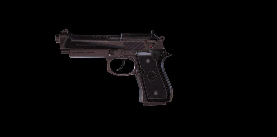 Beretta M9 royalty-free 3d model - Preview no. 1