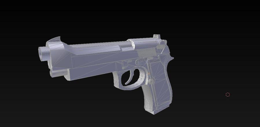 Beretta M9 royalty-free 3d model - Preview no. 2