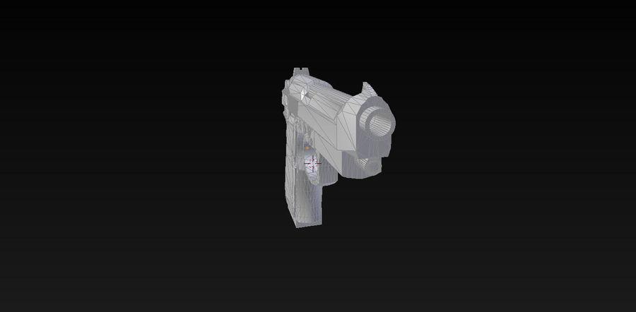 Beretta M9 royalty-free 3d model - Preview no. 8