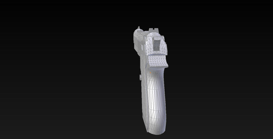 Beretta M9 royalty-free 3d model - Preview no. 4