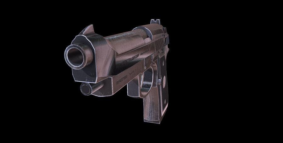 Beretta M9 royalty-free 3d model - Preview no. 5