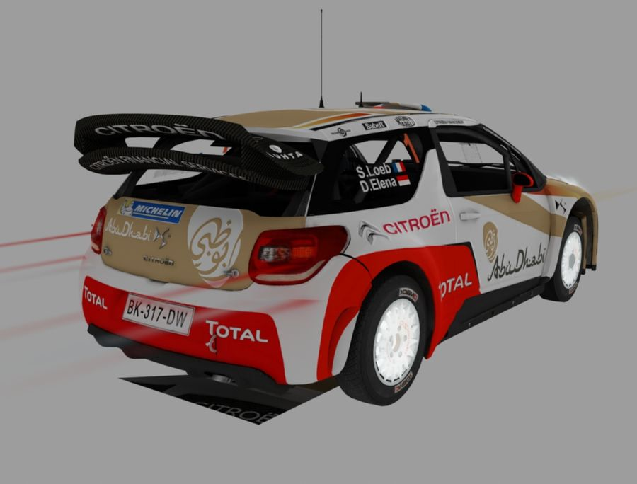 citroen royalty-free modelo 3d - Preview no. 5