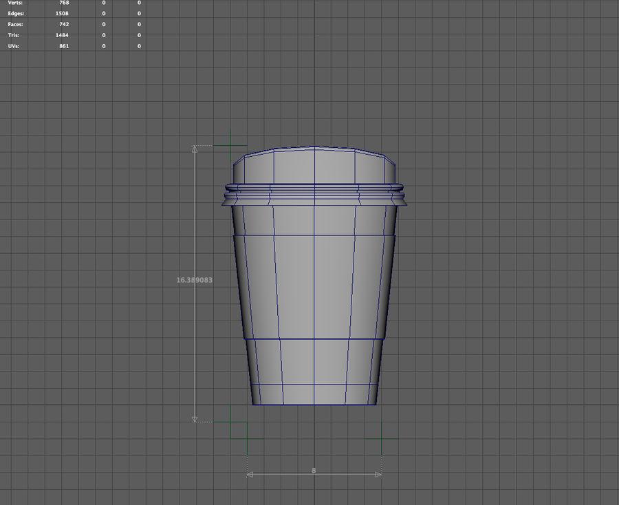3D STARBUCKS PAPIERKOP royalty-free 3d model - Preview no. 7