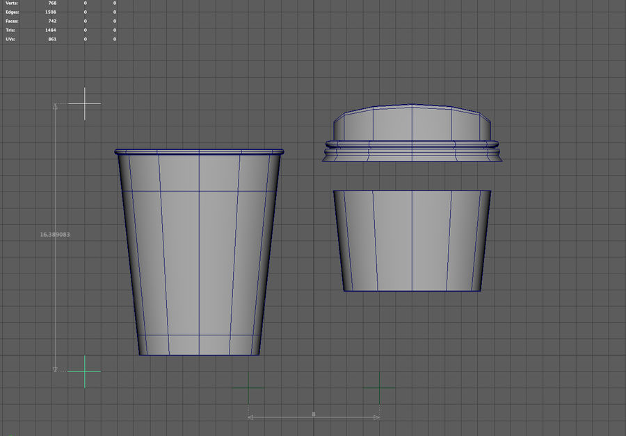 3D STARBUCKS PAPIERKOP royalty-free 3d model - Preview no. 8