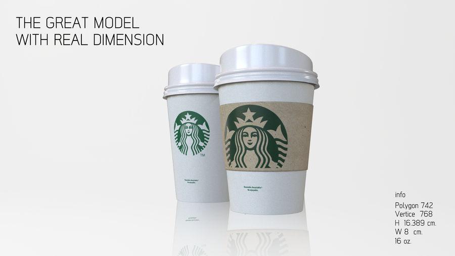 3D STARBUCKS PAPIERKOP royalty-free 3d model - Preview no. 2