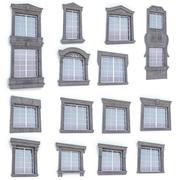 Kolekcja klasycznych okien 3d model
