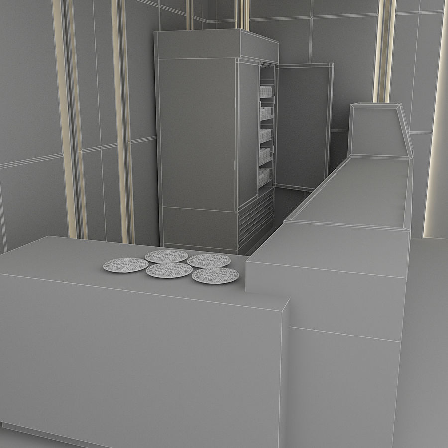 3D Cafe Model royalty-free 3d model - Preview no. 11
