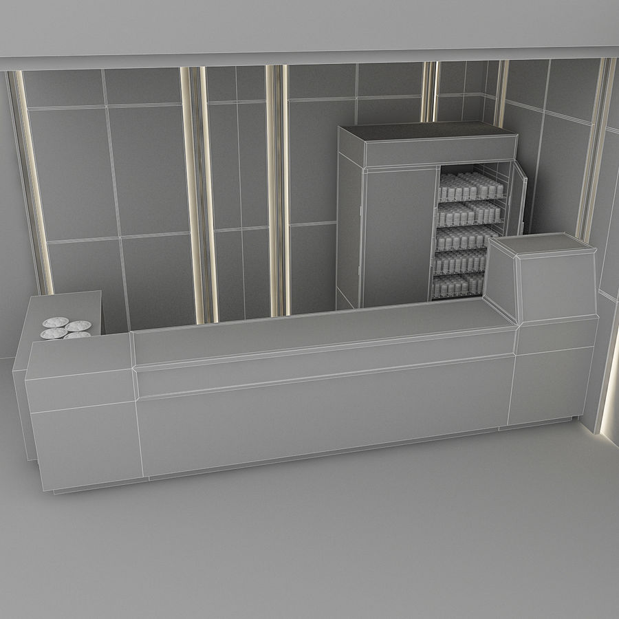 3D Cafe Model royalty-free 3d model - Preview no. 8