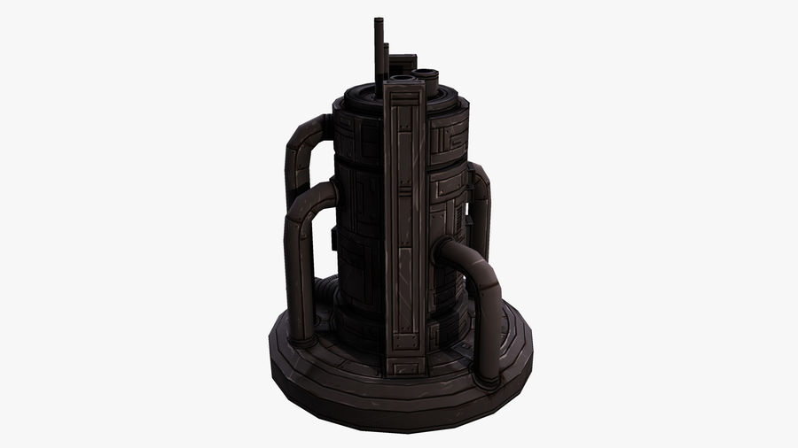 Fábrica royalty-free 3d model - Preview no. 3