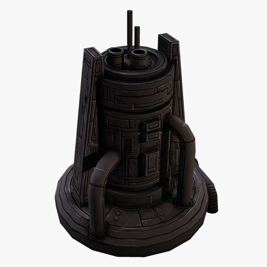Fábrica royalty-free 3d model - Preview no. 1